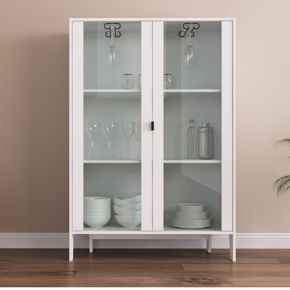 Cristaleira 93cm com 2 portas de Vidro Lift 12535 Artesano