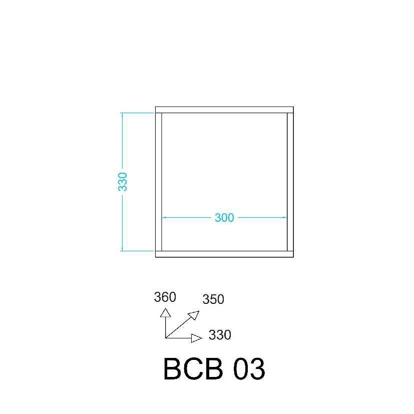Cubo 36x33cm Nicho Aberto BCB 03 BRV Móveis