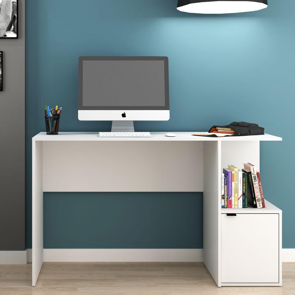 Escrivaninha 1,35m 1 Porta BC 75 BRV Móveis