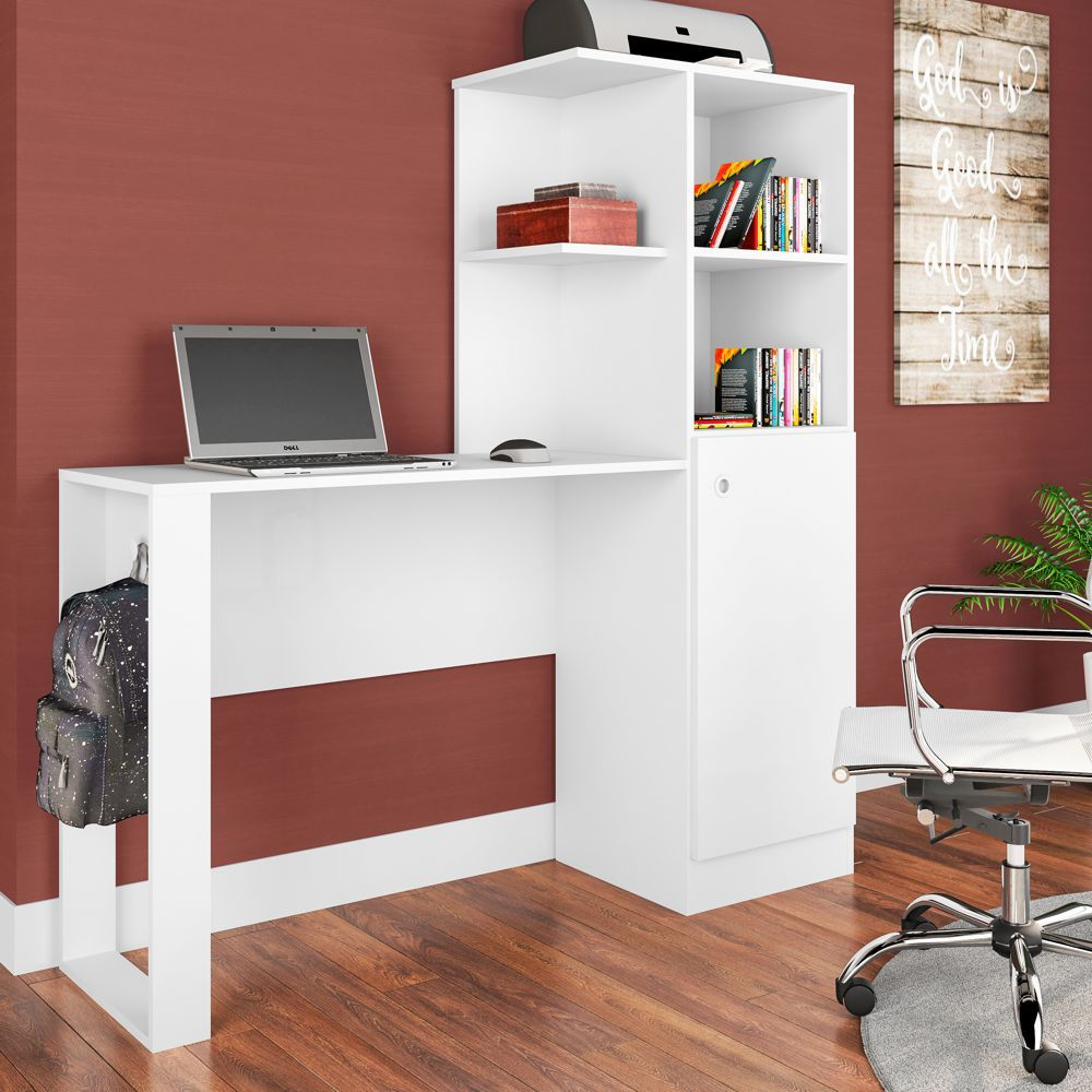Escrivaninha com Estante e Porta 1,28m Califórnia ES1300 Art in Móveis
