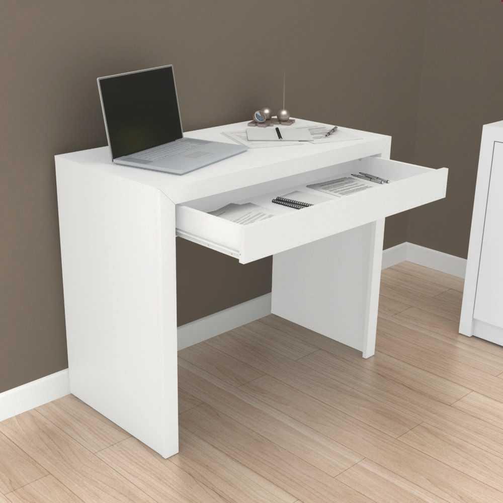 Escrivaninha Mesa para Notebook 90cm 1 Gaveta ME4107 Tecno Móbili