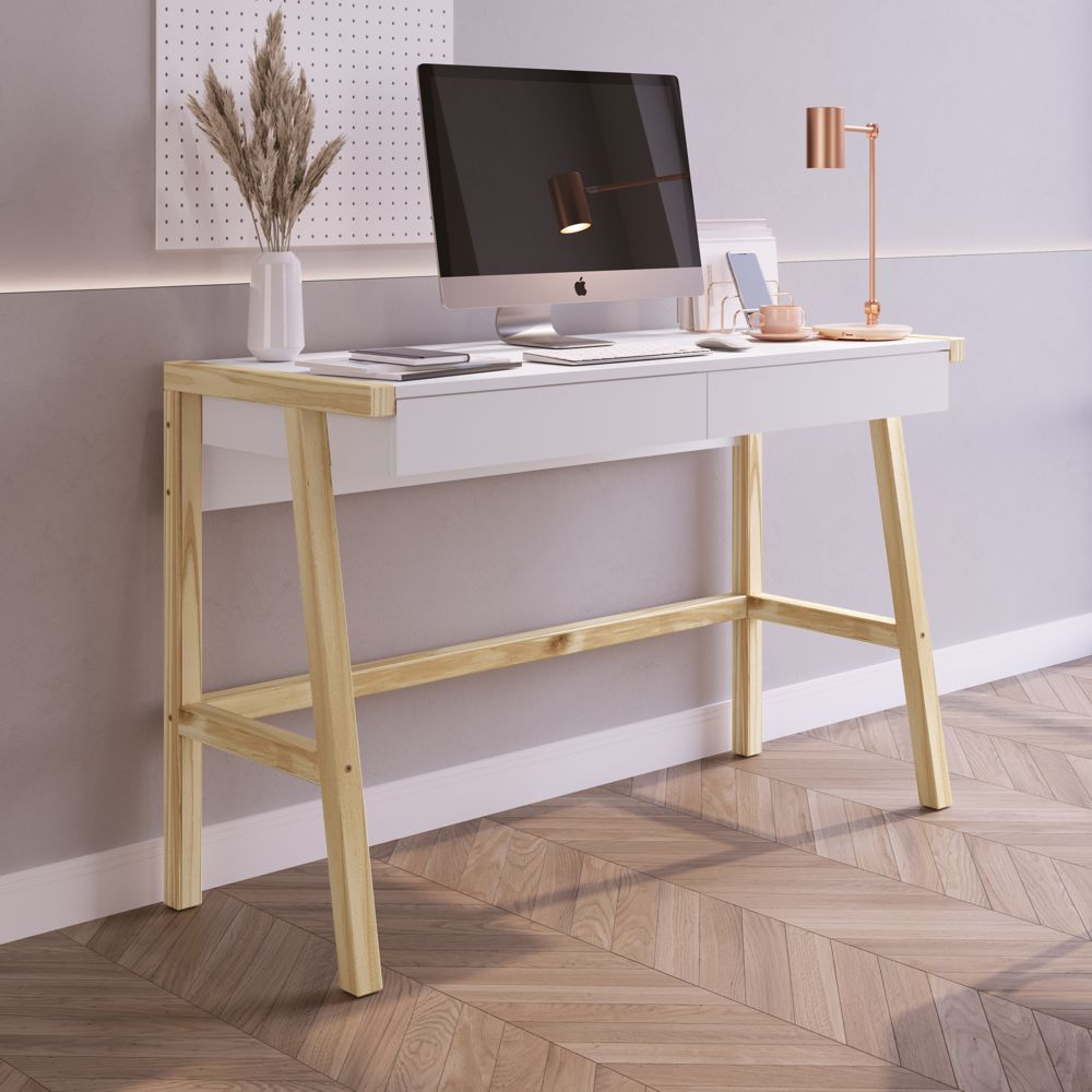 Escrivaninha Noble 2 Gavetas 26113 Home Office Artesano