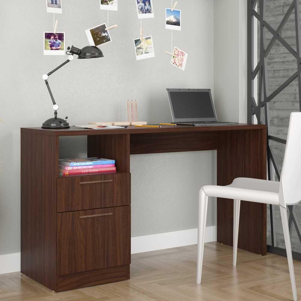 Escrivaninha para Estudos 1 Porta e 1 Gaveta 135cm BC 64 BRV Móveis