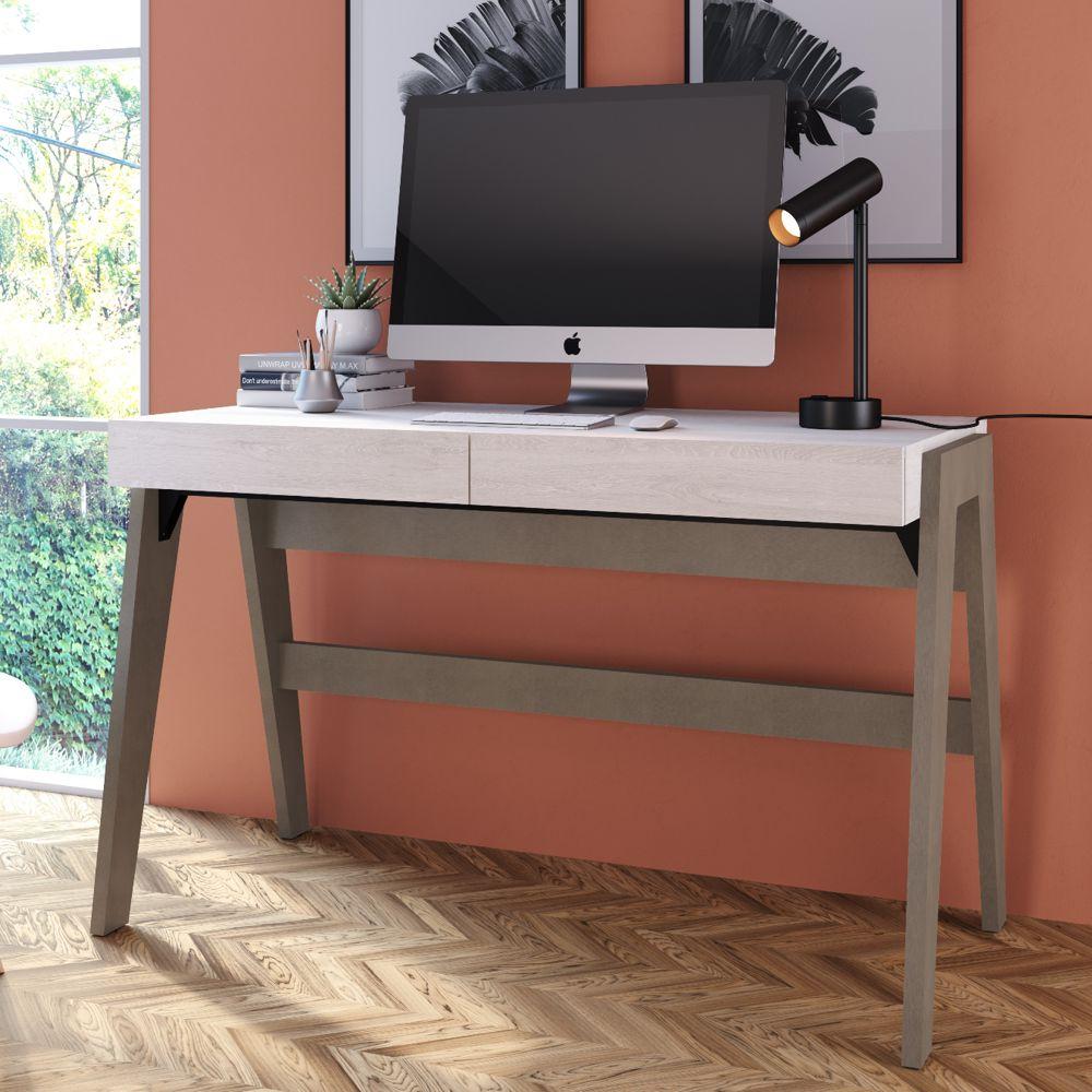Escrivaninha Pés Palito Retrô 1,20m com 2 gavetas 26105 Trend Artesano