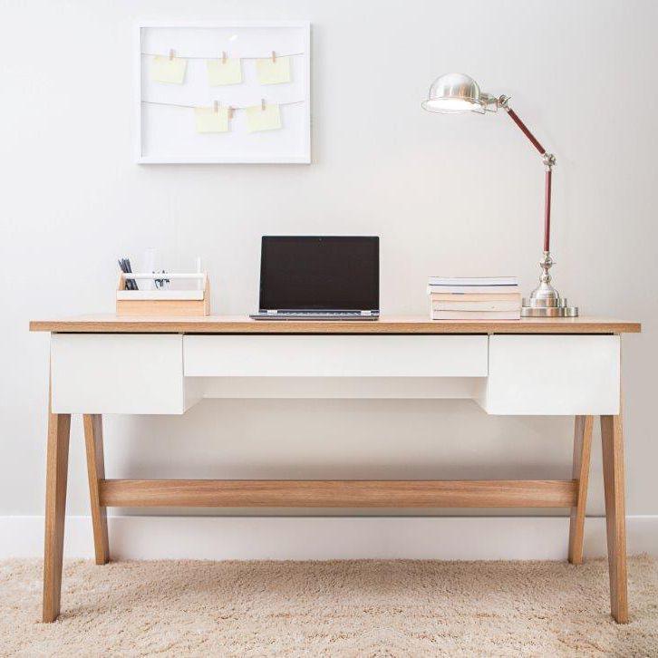 Escrivaninha Pés Palito Retrô 1,50m com 3 gavetas 26106 Trend Artesano