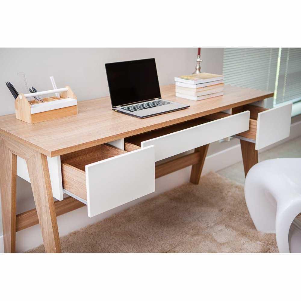 Escrivaninha Retrô 3 gavetas 150cm 26106 Trend Artesano