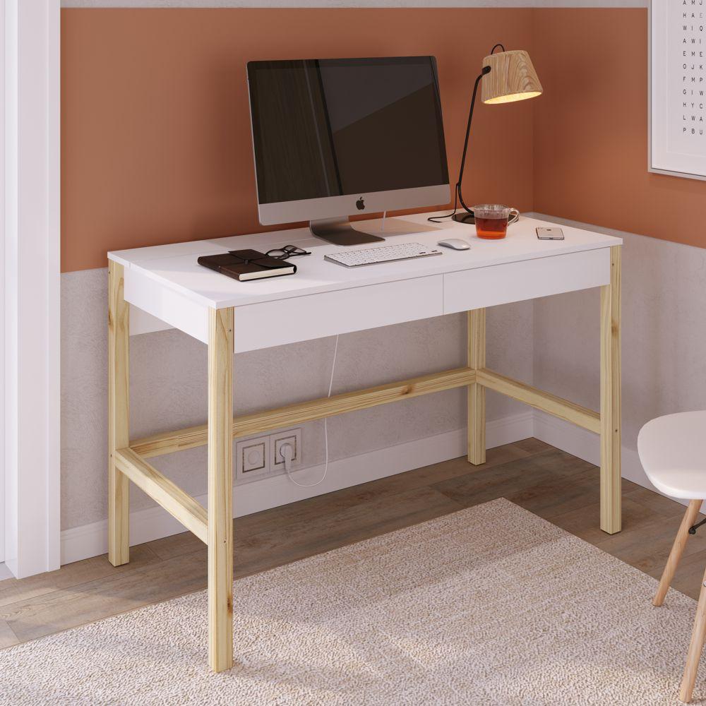 Escrivaninha Solution 2 Gavetas 26112 Home Office Artesano