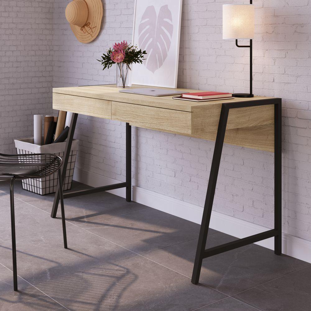 Escrivaninha Urban Estrutura em Aço 2 Gavetas 27887 Home Office Artesano