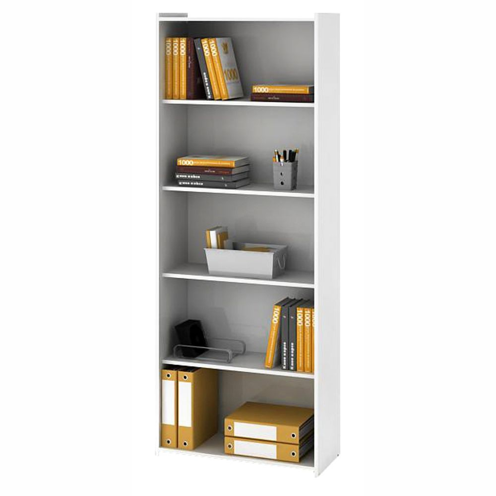 Estante para livros biblioteca 5 prateleiras 70cm ESM 201 Movelbento