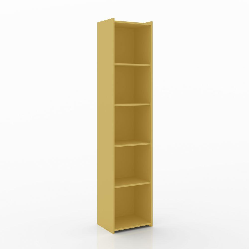 Estante para livros biblioteca 5 prateleiras 40cm ESM 206 Movelbento