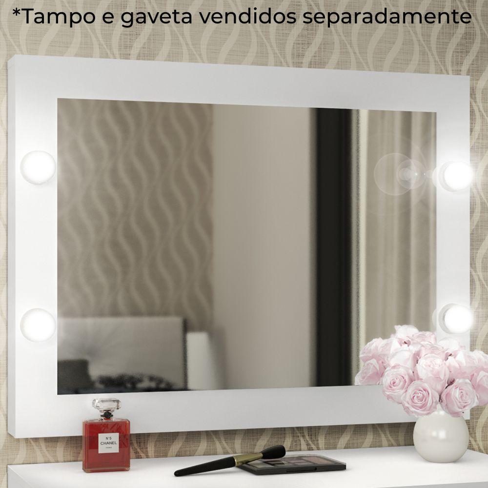 Espelho Camarim Suspenso 90x68cm para 4 Lâmpadas PE2006 Tecno Móbili