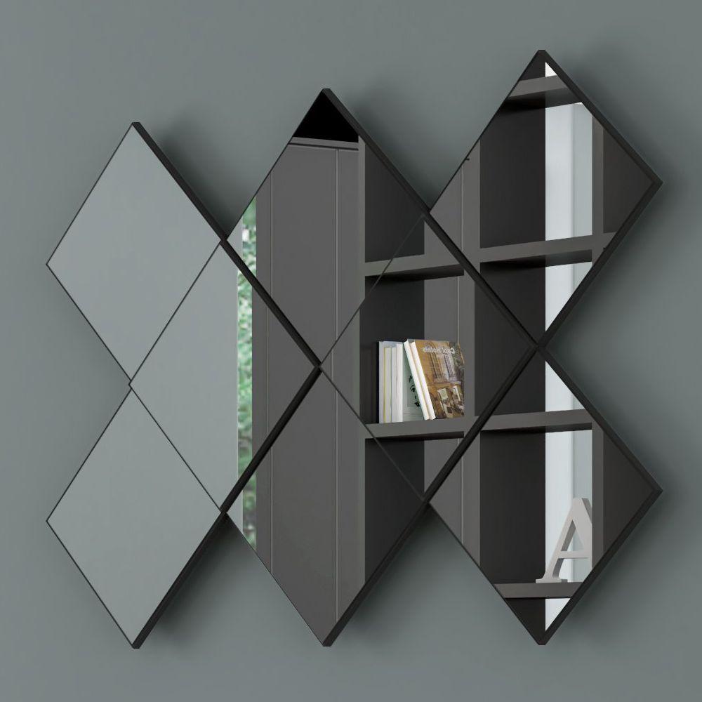 Painel de Espelhos Decorativos Quadriculado 127x85cm TB83 Dalla Costa