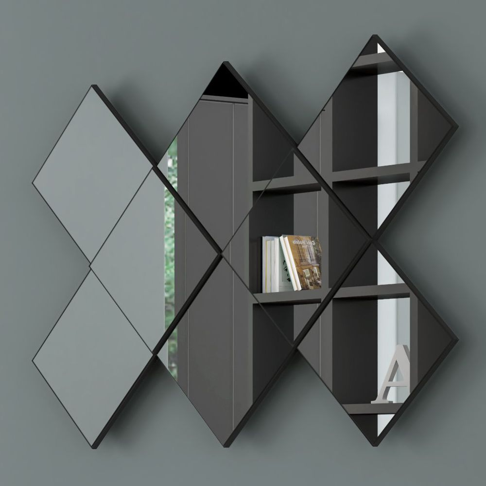 Espelho Decorativo Quadriculado 127x85cm TB83 Dalla Costa