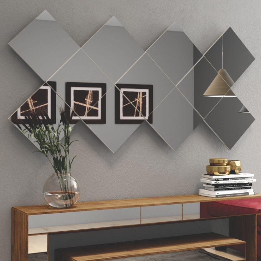 Espelho Decorativo Quadriculado 170x85cm TB84 Dalla Costa