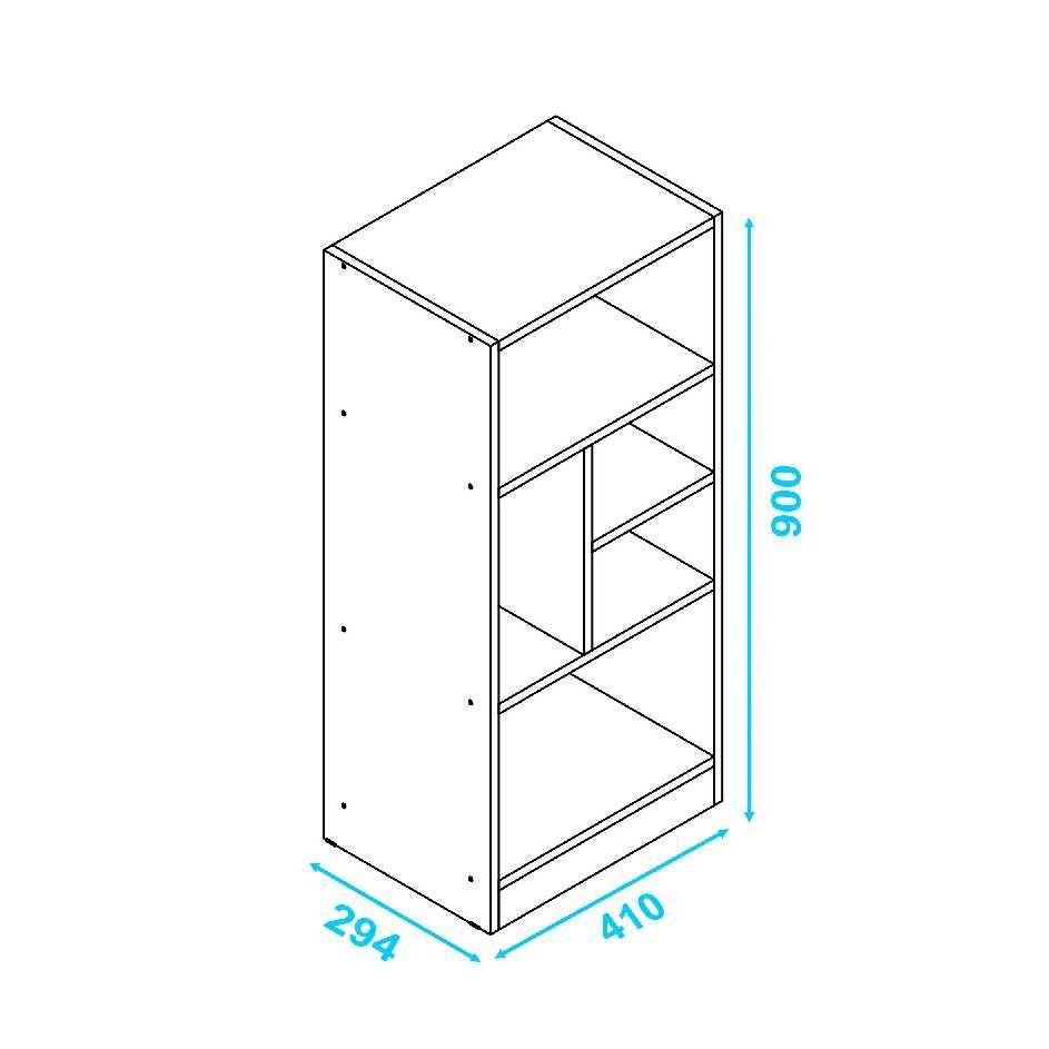 Estante 5 Nichos Pequena 41x90cm BE 841 BRV Móveis
