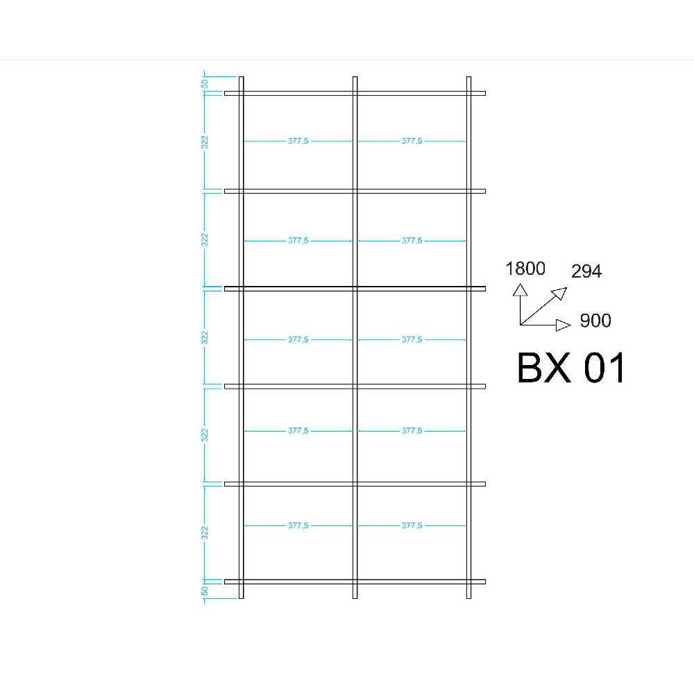 Estante Livreiro de Encaixe 90x180cm Piso ou Suspensa BX 01 BRV Móveis