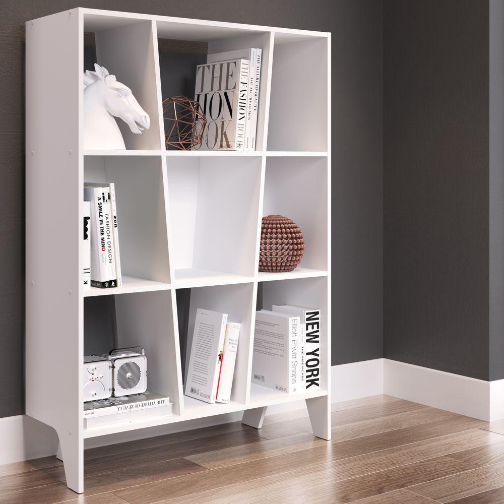 Estante para Livros 93cm com 6 nichos Lift 12510 Artesano