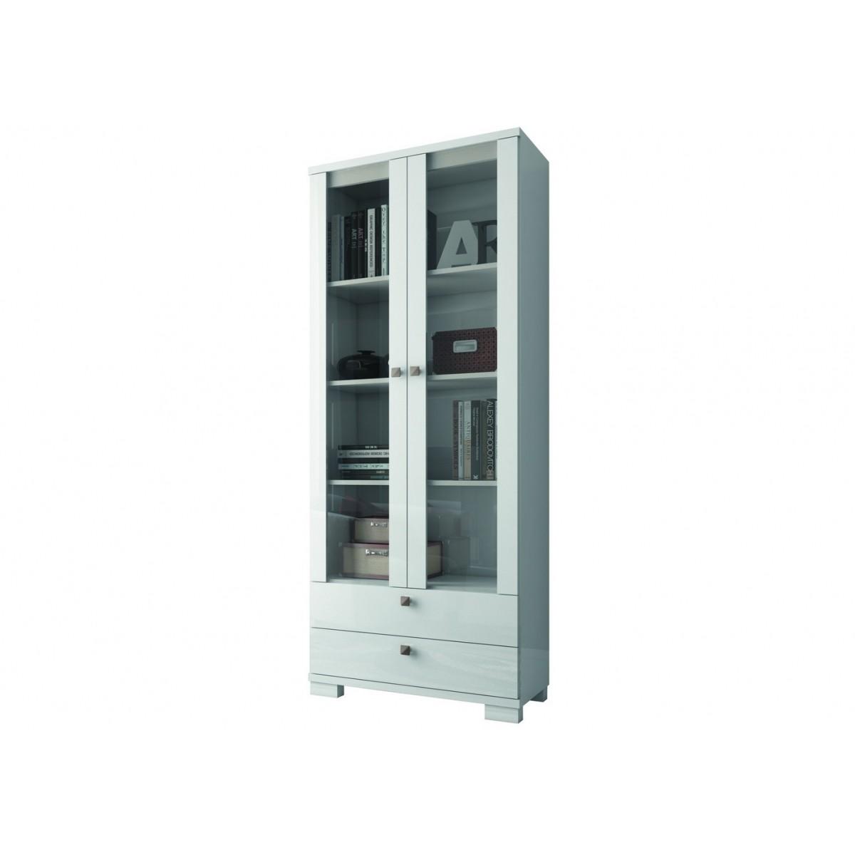 Estante para Livros com 2 Portas de Vidro MDF C604 Dalla Costa