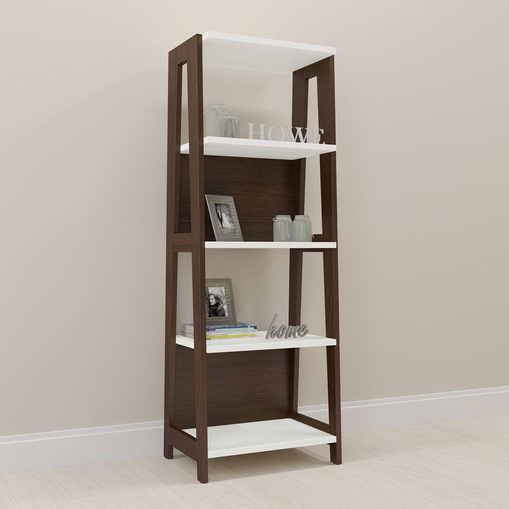Estante para Livros Retrô 65cm com 5 Prateleiras 26125 Trend Artesano