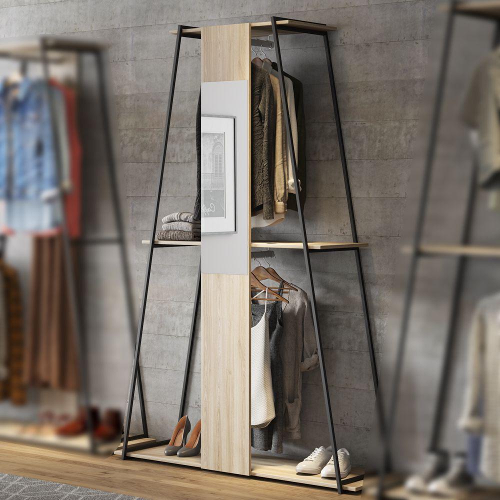 Estante roupeiro com espelho 134,5cm 1003 Tog Be Mobiliário
