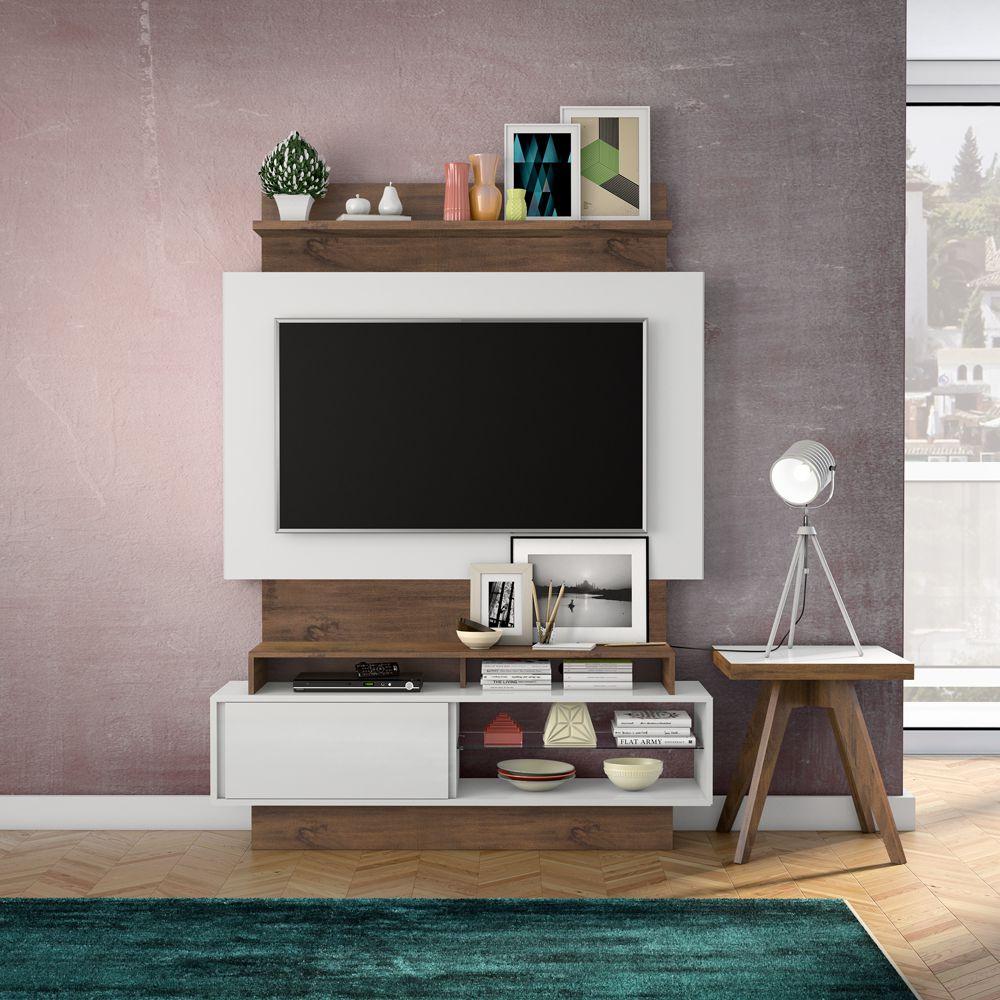 Home Theater com Painel para TV 140cm 1 Porta Correr TB111 Dalla Costa