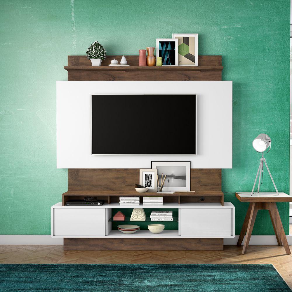 Home Theater com Painel para TV 180cm 2 Portas Correr TB112 Dalla Costa
