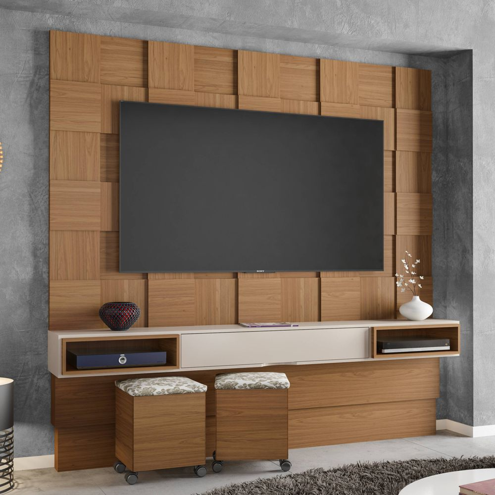 Home Theater Painel Quadriculado TB126 Dalla Costa