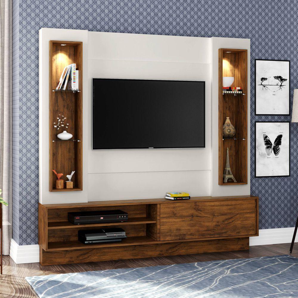 Home Theater TV com Painel 180cm 1 porta correr iluminação LED TB128L Dalla Costa