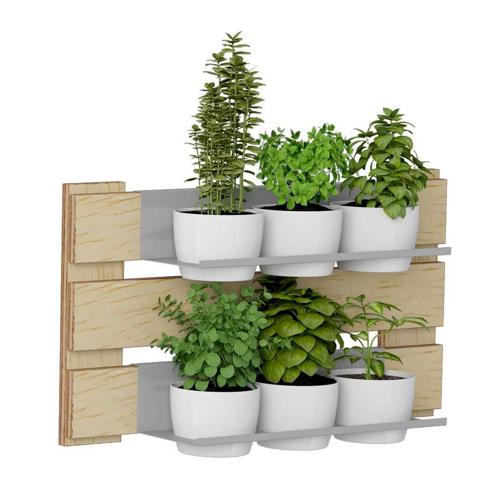 Jardim Vertical 2 Prateleiras para Vasos 60cm 1006 Green BE Móveis