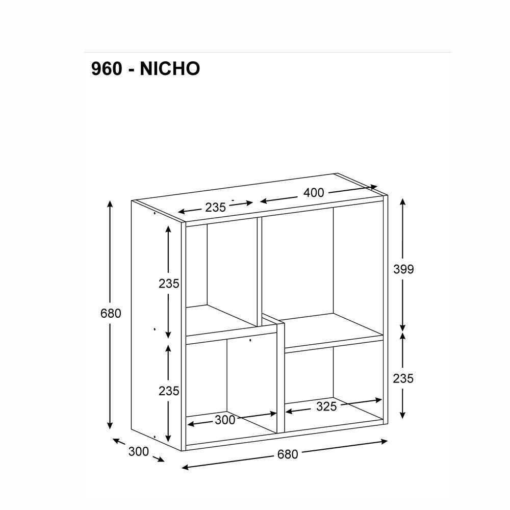 Kit 3 Nichos Componíveis Multiuso 9603 Multimóveis