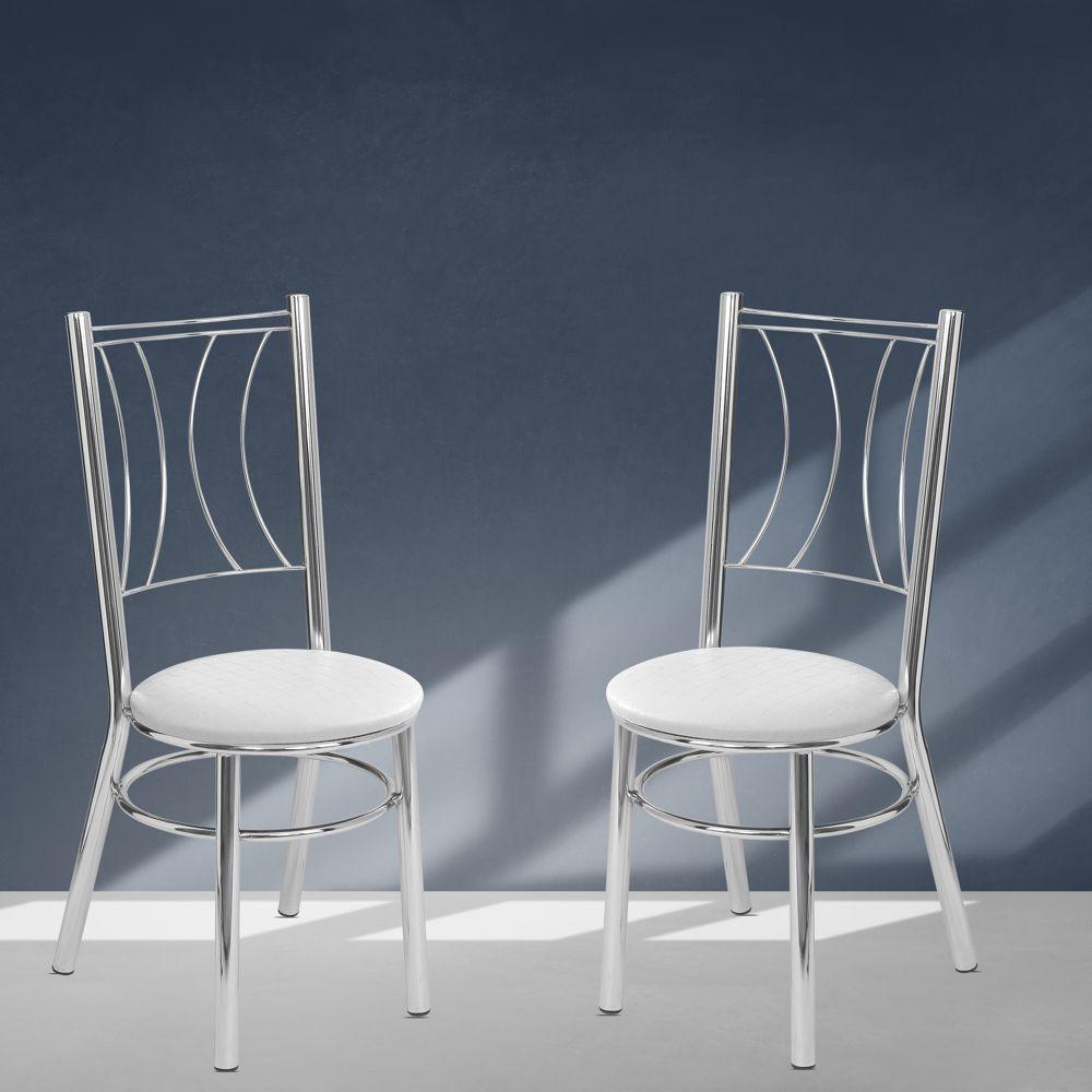 Kit com 2 Cadeiras Cromadas Rostov Tre Paroni