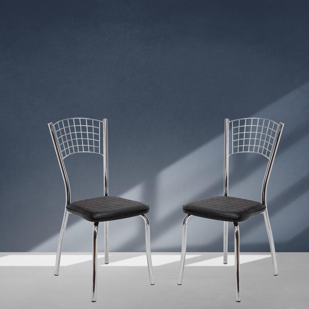 Kit com 2 Cadeiras Cromadas Toquio Tre Paroni