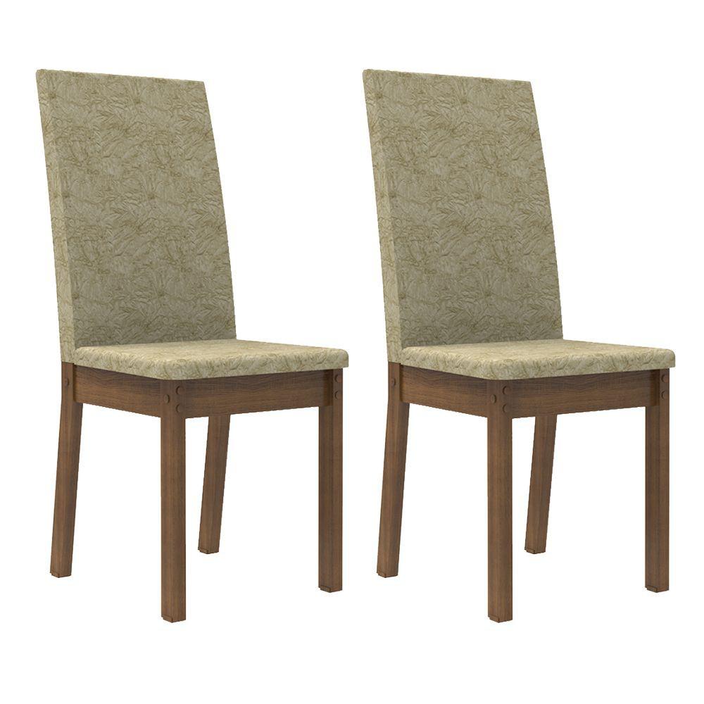 Kit com 2 Cadeiras de Jantar MDF Estofadas 4248 Madesa