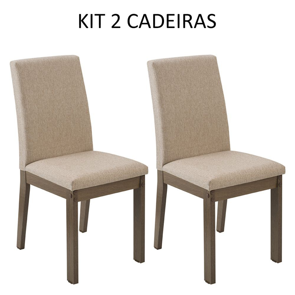 Kit com 2 Cadeiras de Jantar MDF Estofadas 4249 Madesa