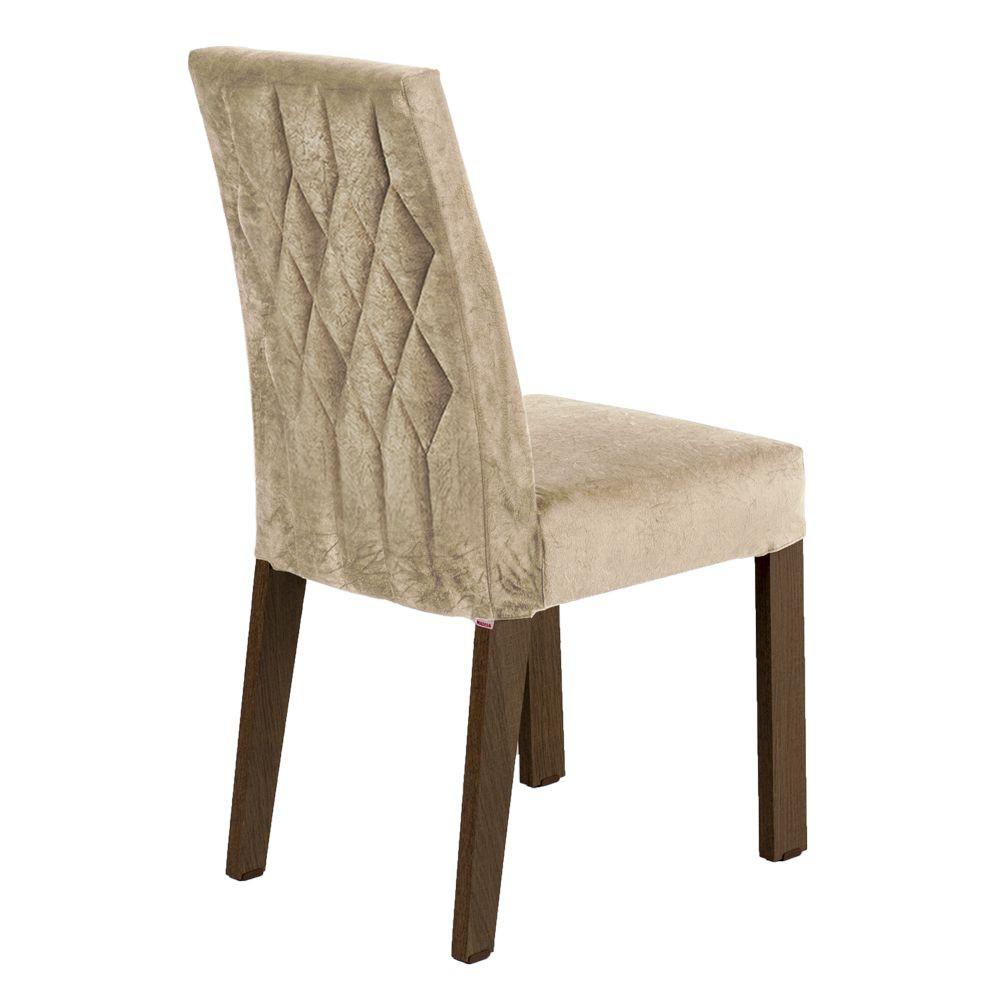 Kit com 2 Cadeiras de Jantar MDF Estofadas 4254 Madesa