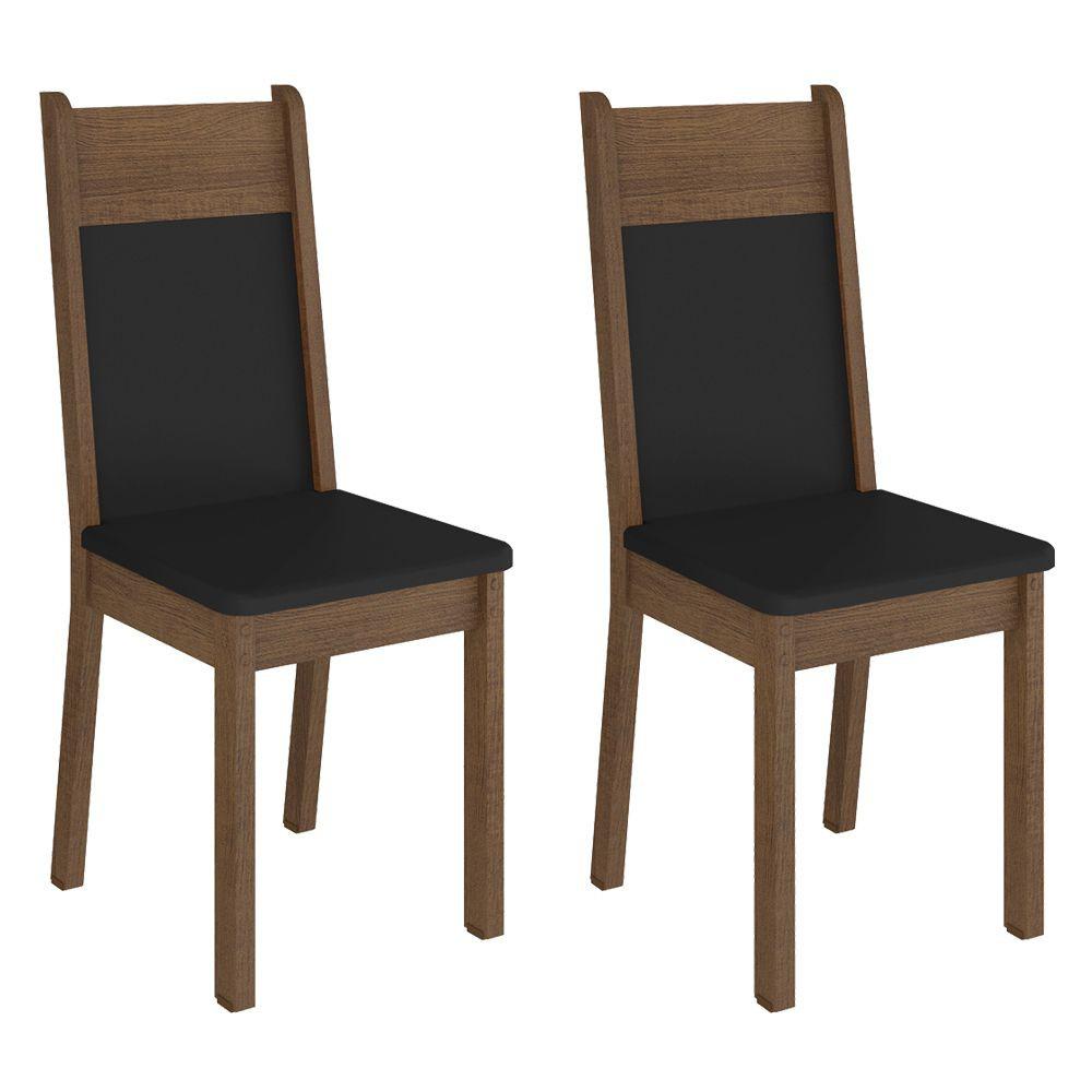 Kit com 2 Cadeiras de Jantar MDF Estofadas 4280 Madesa
