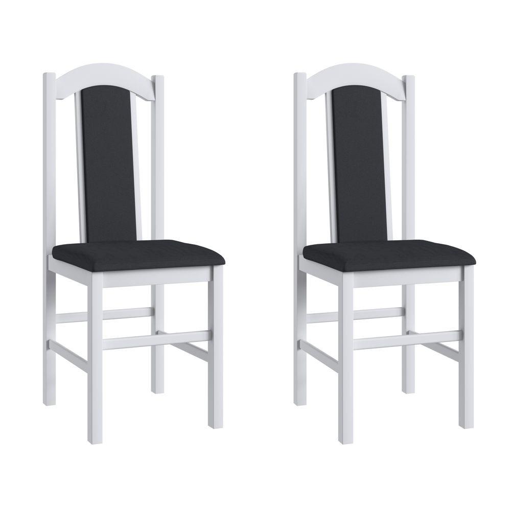 Kit com 2 Cadeiras de Madeira com assento e encosto estofados 39x45cm Ref. 500 Canção