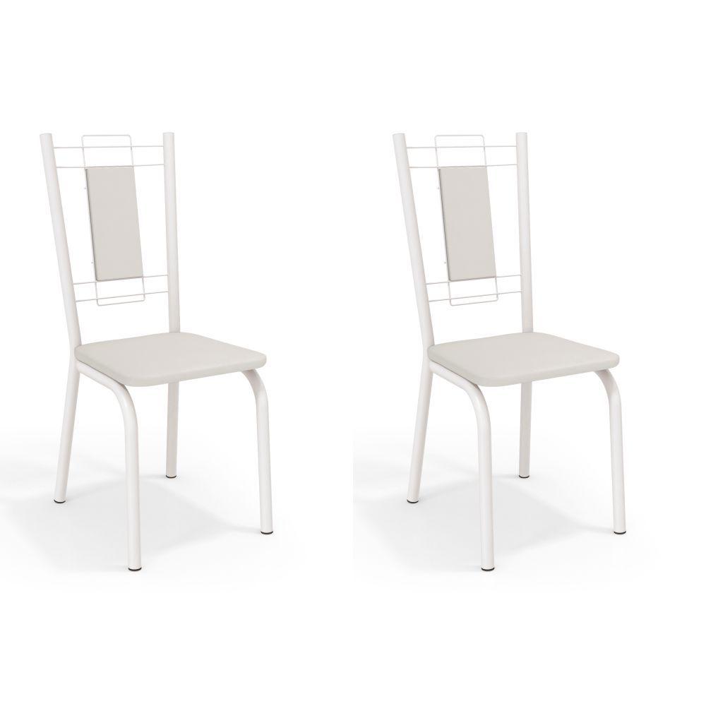 Kit com 2 Cadeiras Estofadas Florença Pintada 2C005 Kappesberg