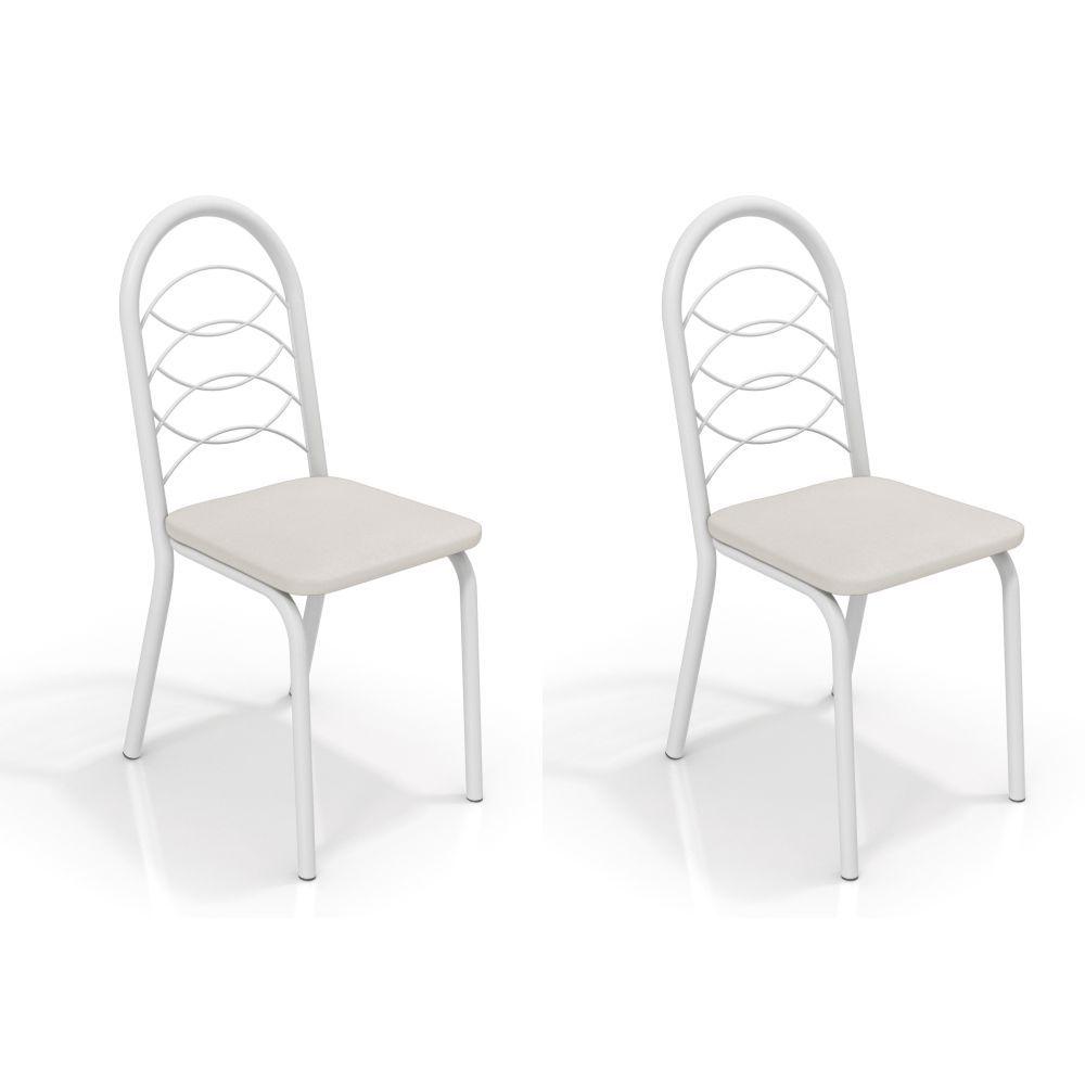 Kit com 2 Cadeiras Estofadas Holanda Pintada 2C009 Crome Kappesberg