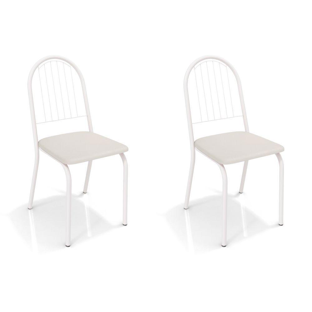 Kit com 2 Cadeiras Estofadas Noruega Pintada 2C077 Crome Kappesberg