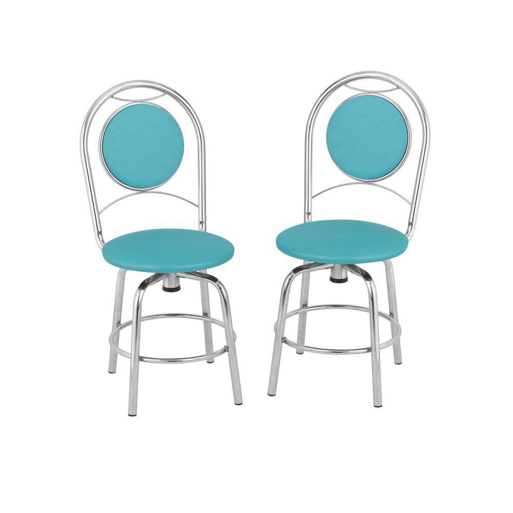 Kit com 2 Cadeiras Giratórias Cromadas Déli Tre Paroni