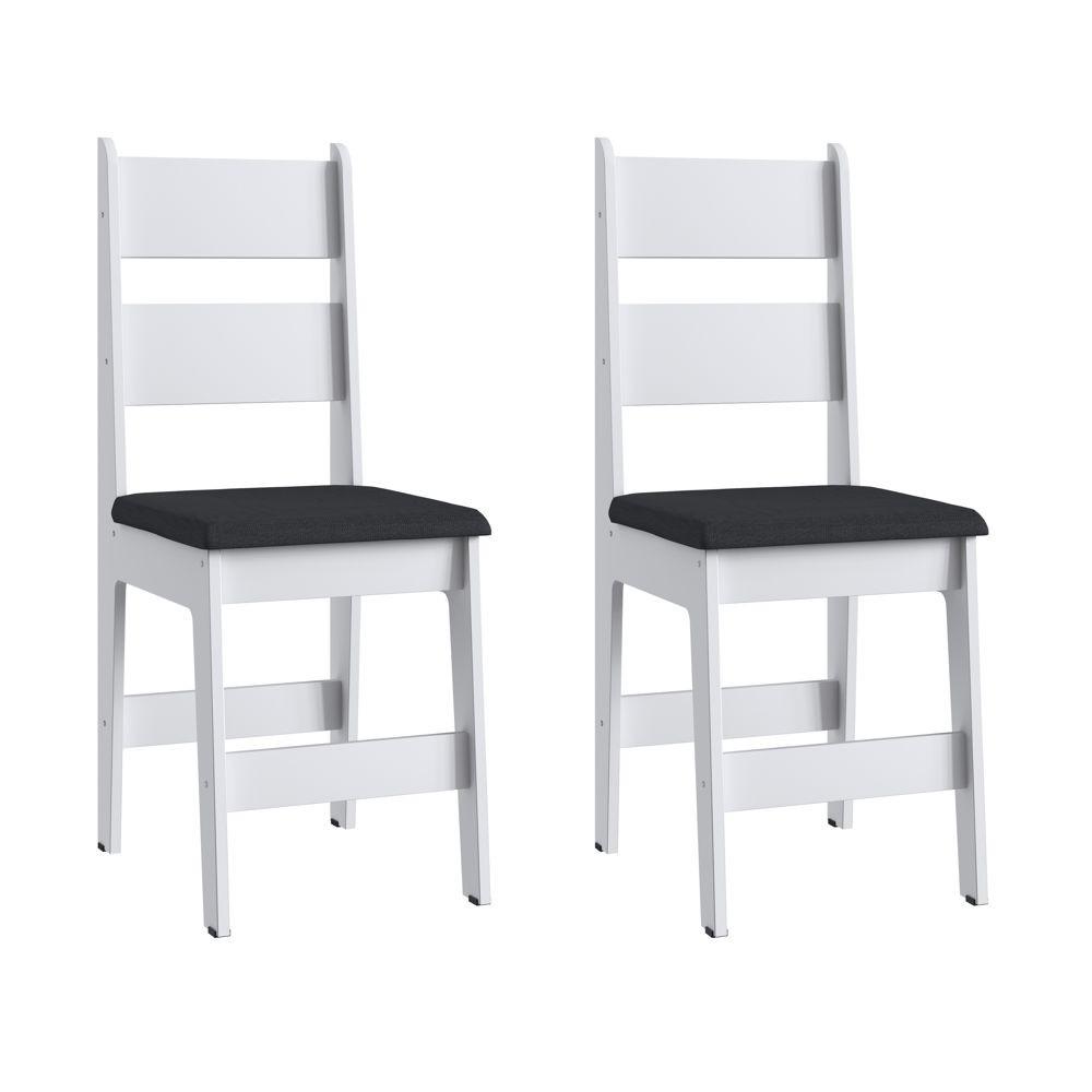 Kit com 2 Cadeiras MDF com assento estofado 36x46cm Ref. 903 Canção