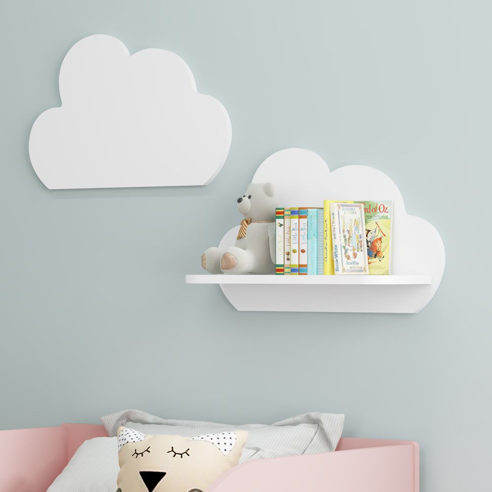Kit com 2 Prateleiras Nuvem Decorativa 100% MDF 2706 Multimóveis