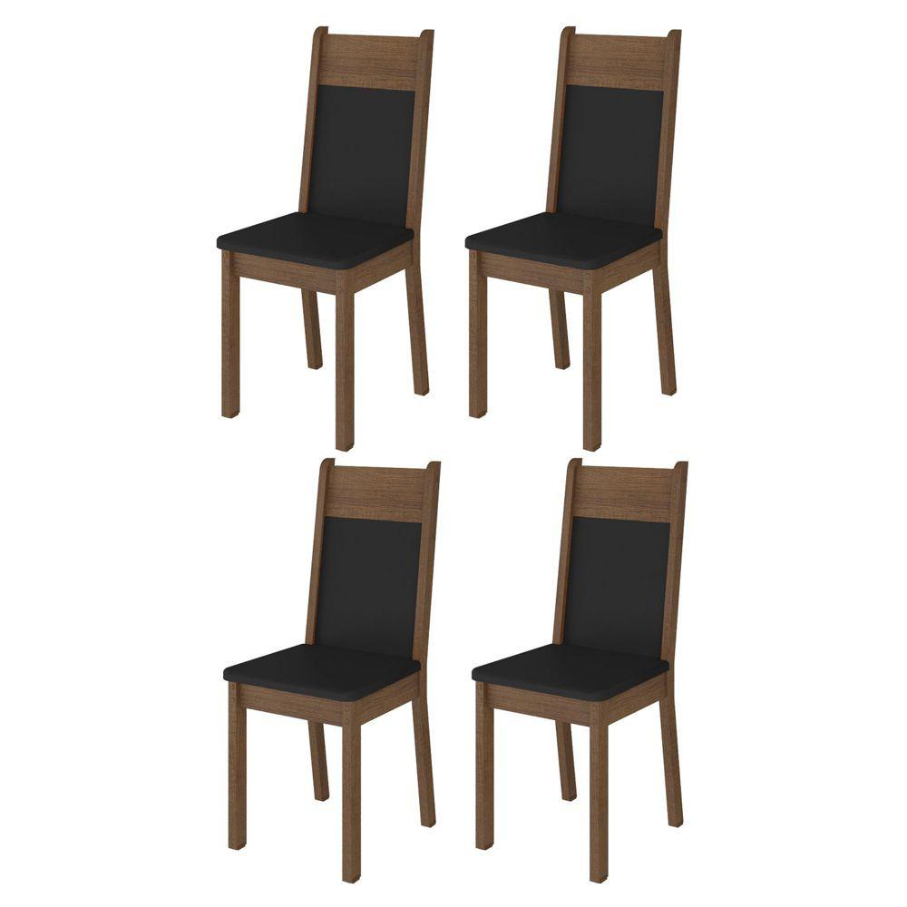 Kit com 4 Cadeiras de Jantar MDF Estofadas 4280 Madesa