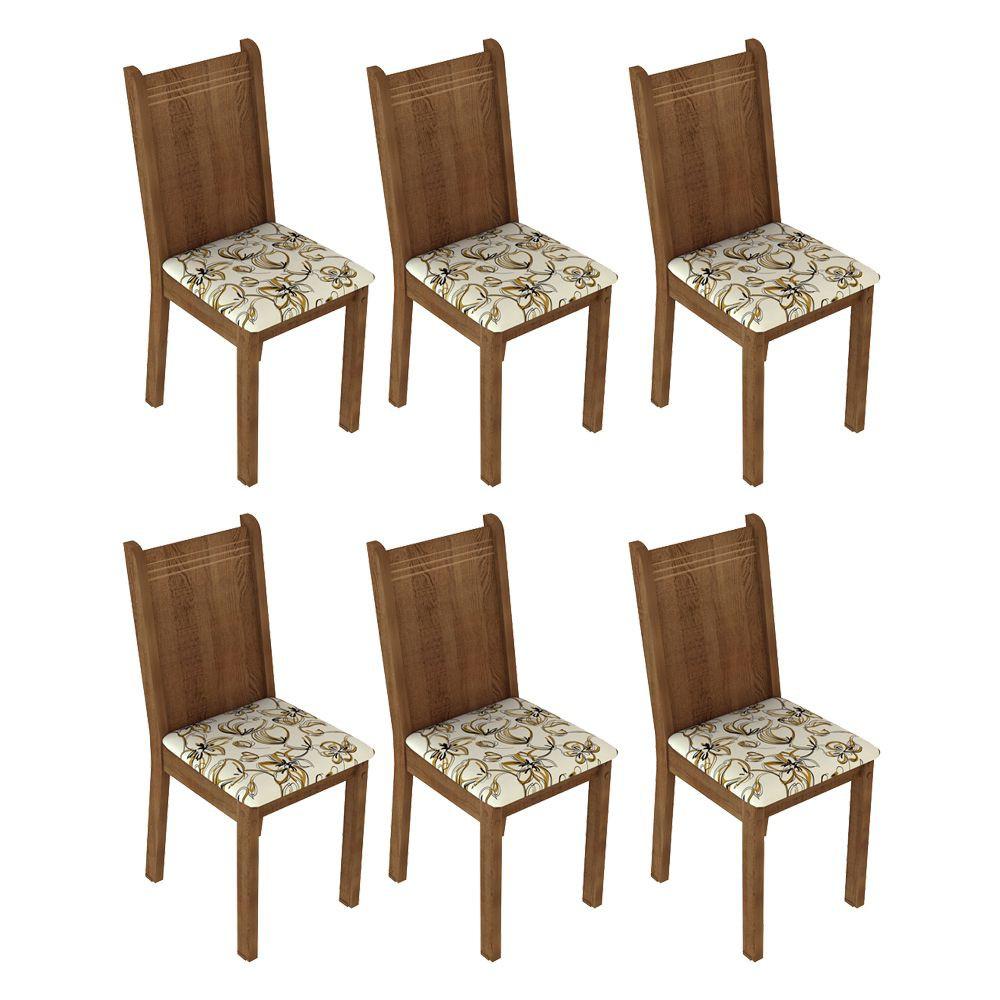 Kit com 6 Cadeiras de Jantar MDF/MDP Estofadas 4290 Madesa
