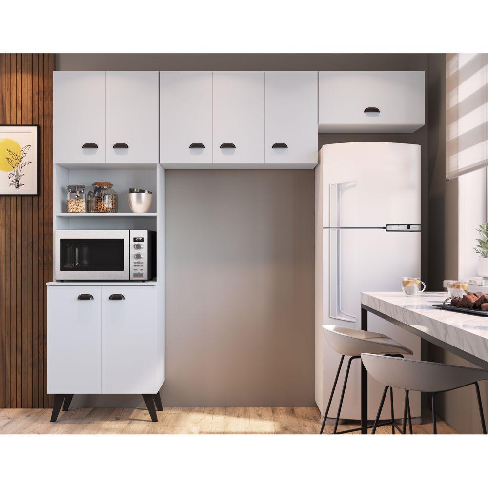 Kit Móveis para Cozinha Paneleiro para Fornos e Aéreos 3pc CJ035 Mia Coccina