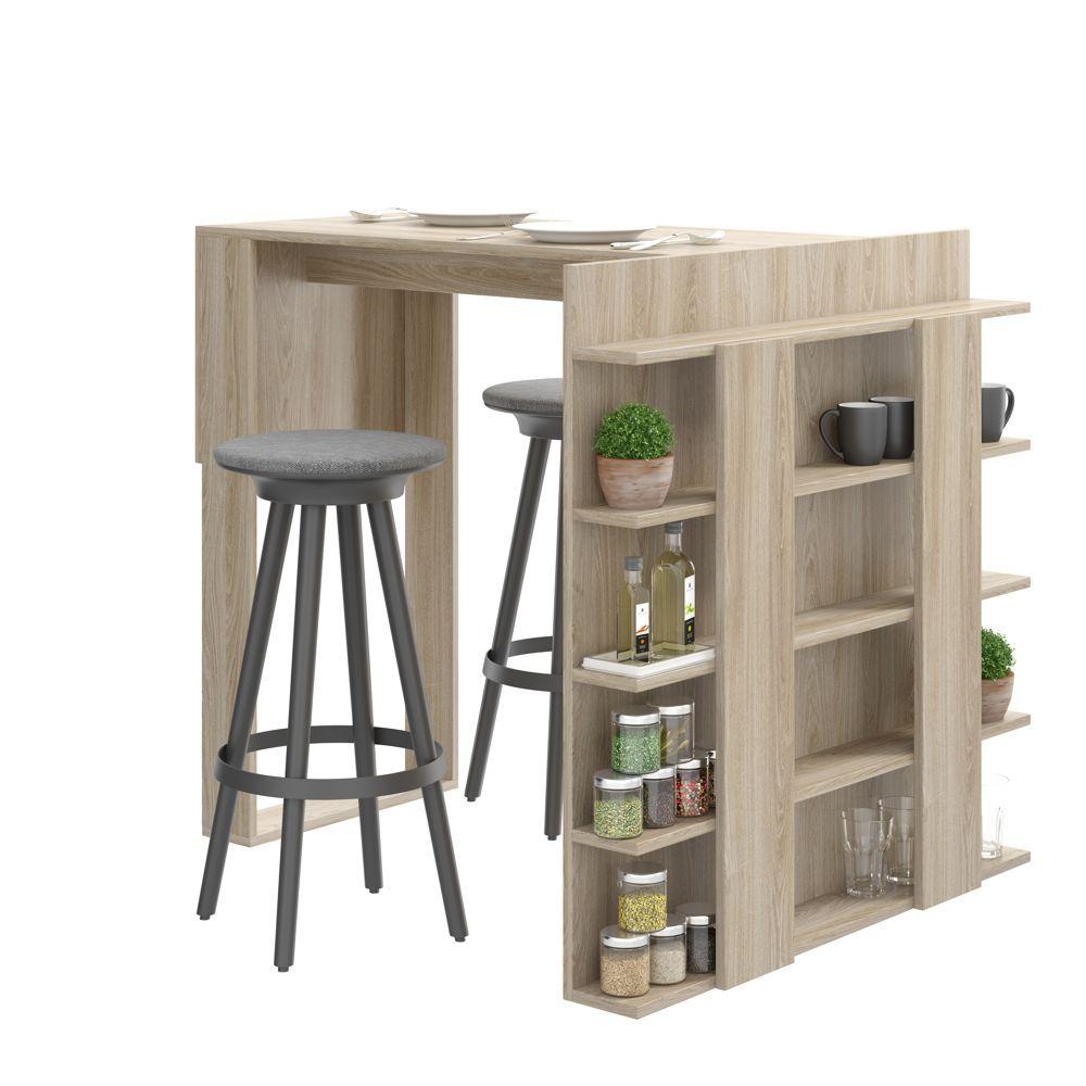 Mesa com painel multiuso para banquetas 101,5cm 1003 Smart Be Mobiliário
