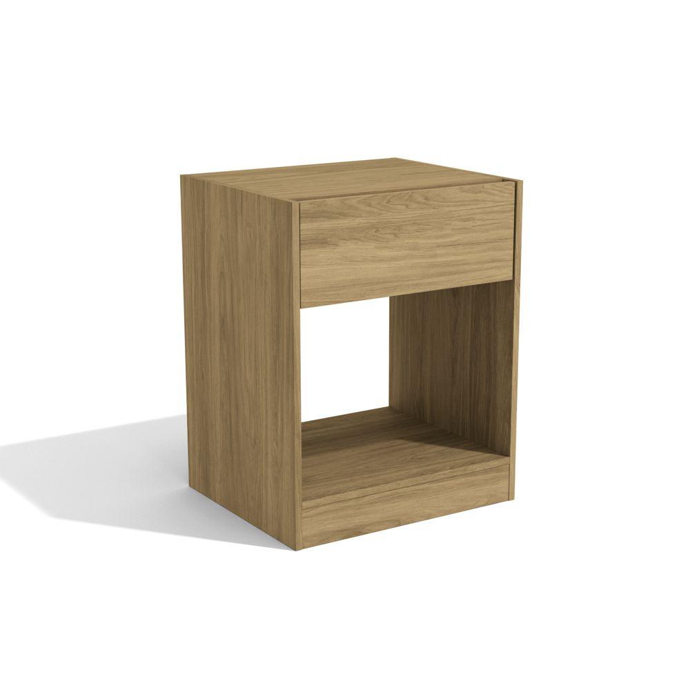 Mesa de Cabeceira 53x45cm 1 Gaveta 1 Nicho Versa L568 Kappesberg