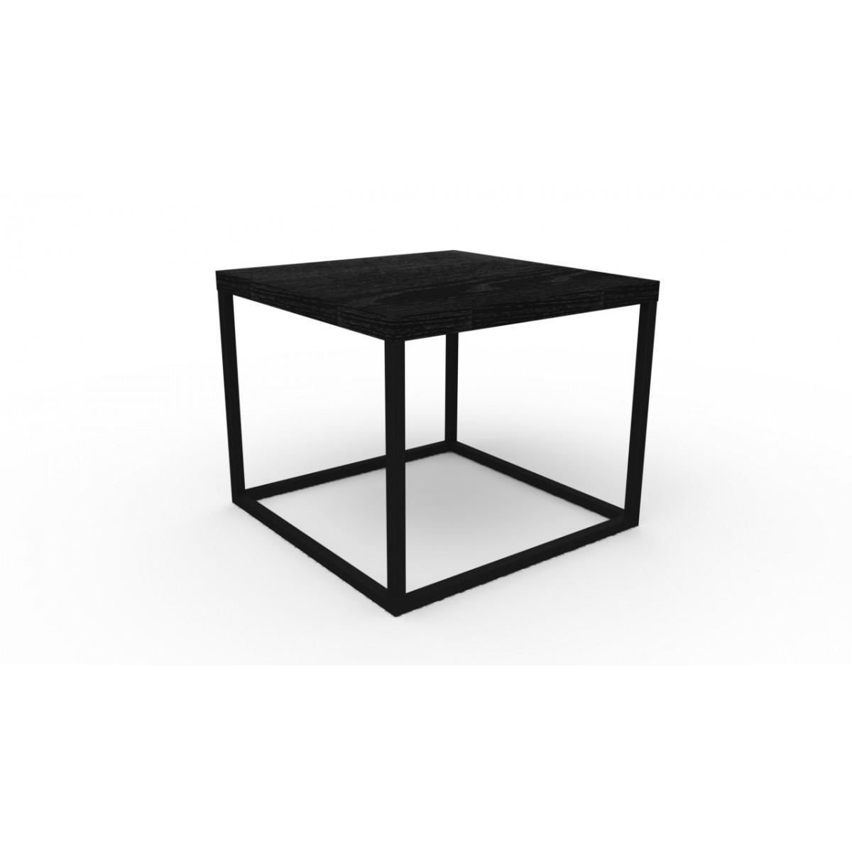 Mesa de Centro Pequena Cube Ferro e MDF 24801 Artesano
