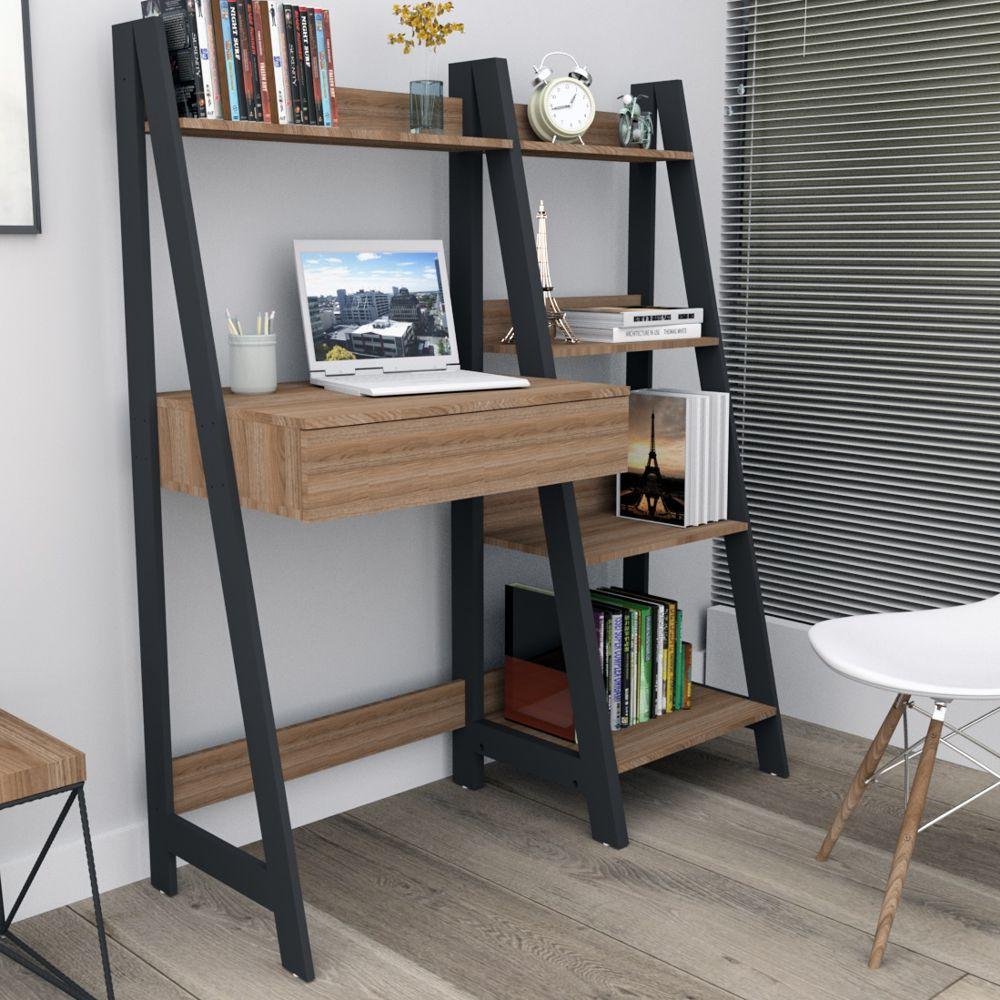 Mesa de Computador com Estante para escritório 1 Gaveta Urban EST4001 Appunto Móveis